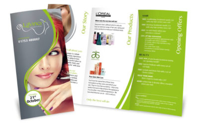 LaVinci Hair & Beauty Leaflet
