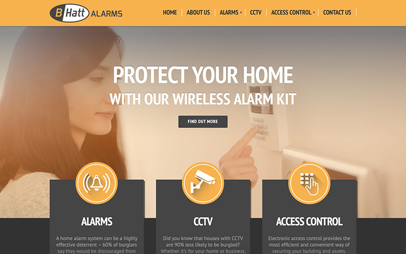 B-Hatt Alarms Website