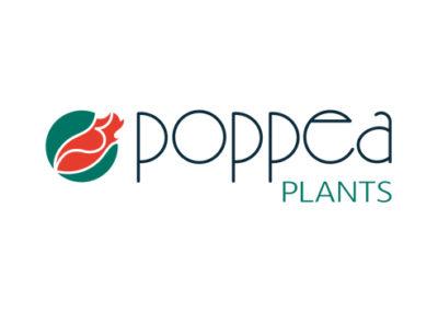 Rare Design: Logo Design Poppea Plants